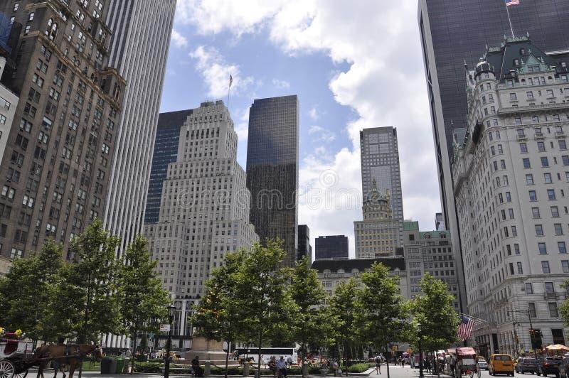 New York City, le 1er juillet : L'hôtel de plaza dans la plaza grande d'armée de Midtown Manhattan de New York City aux Etats-Uni photos stock