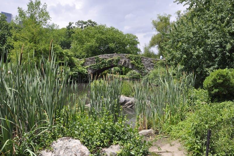 New York City, le 1er juillet : Pont de Gaptow de Central Park dans Midtown Manhattan de New York City aux Etats-Unis image libre de droits