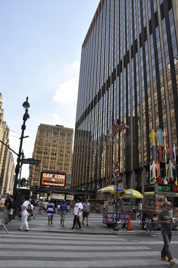 New York City, le 2 juillet : Madison Square Garden à Manhattan de New York City aux Etats-Unis images stock