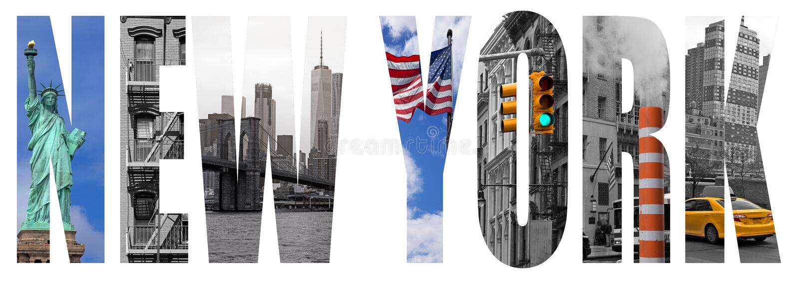 New York city letters concept stock image