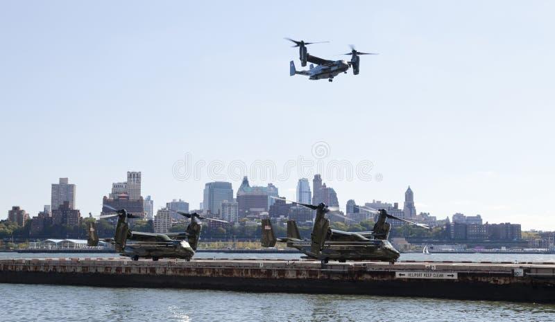 New York City, los E.E.U.U. MV-22 Osprey imagenes de archivo