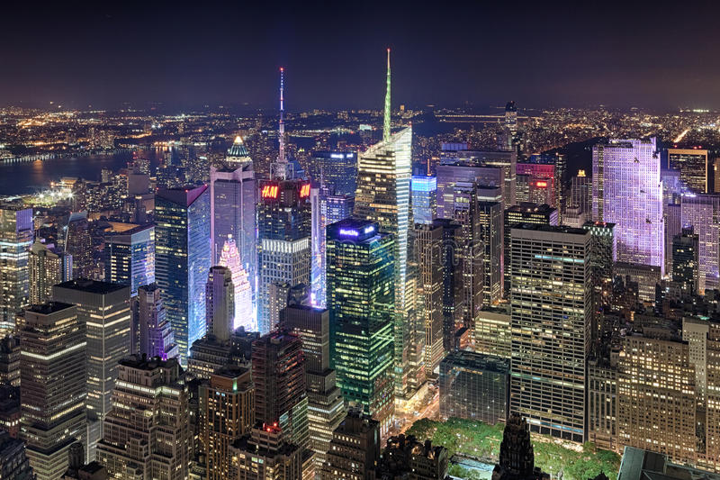 New York City, los E.E.U.U. - Nueva York de la parte alta y Times Square foto de archivo libre de regalías