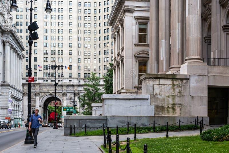 New York City/los E.E.U.U. - 20 de junio de 2018: ` S del presidente de ciudad de Manhattan foto de archivo
