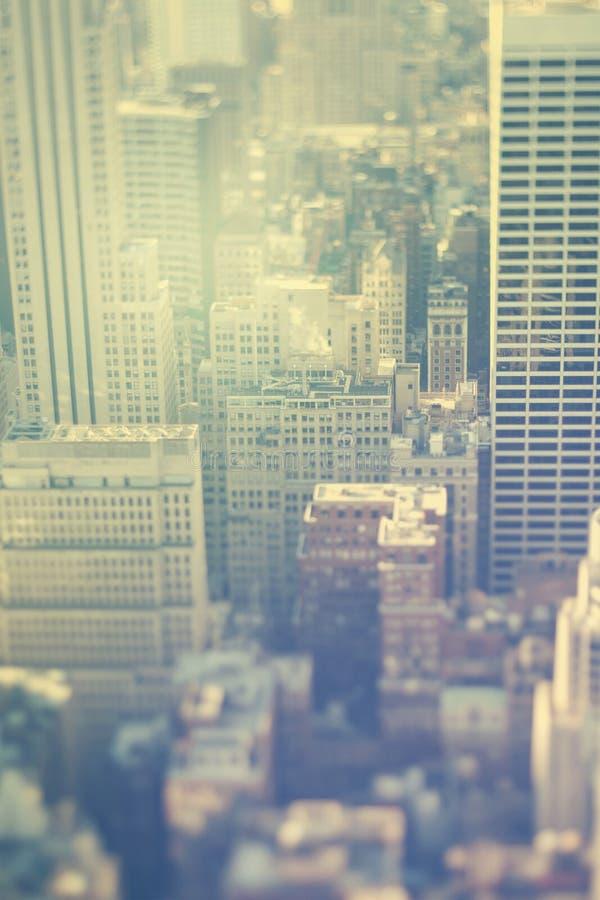New York City, Manhattan, Bürogebäude lizenzfreies stockfoto