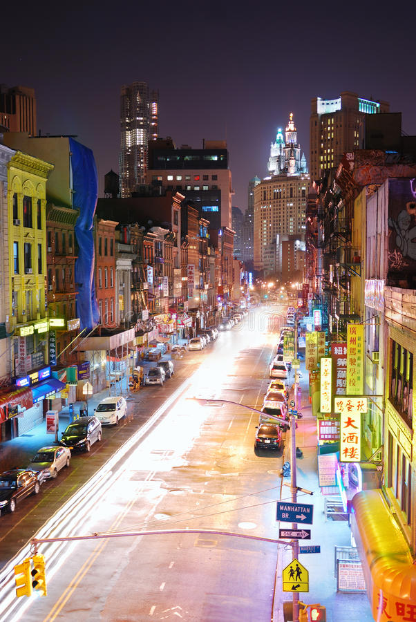 New York City Manhattan Chinatown lizenzfreies stockbild