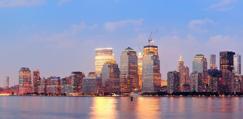 New York City Manhattan Downtown Skyline Stock Images