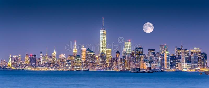 New York City Manhattan downtown skyline royalty free stock images