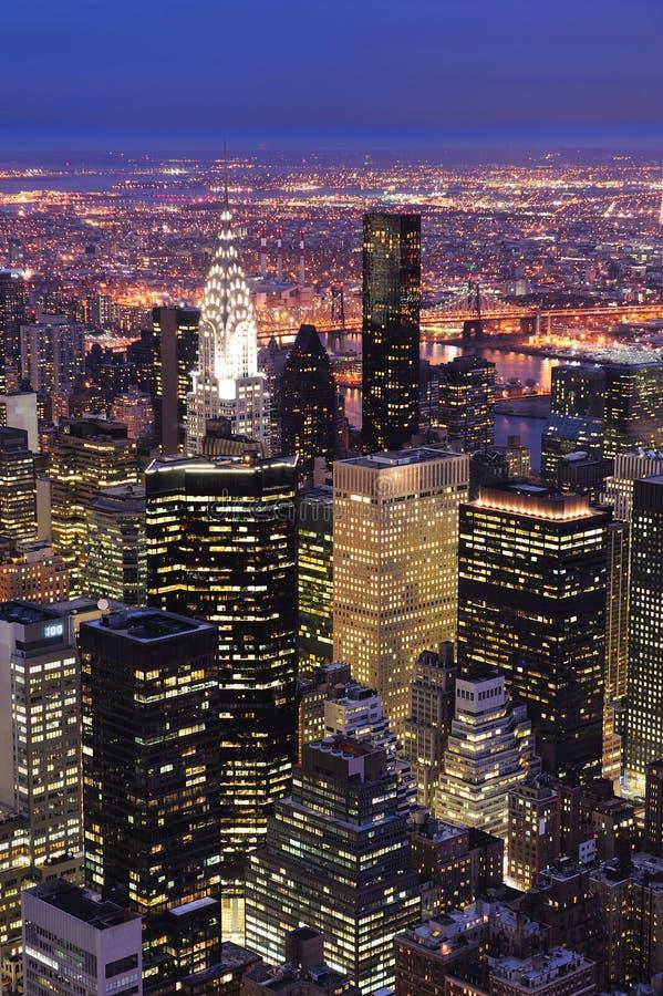 New York City Manhattan horisontantenn arkivfoto