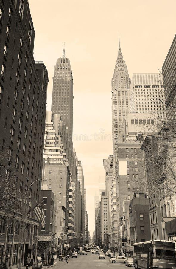 New York City Manhattan noire et blanche photographie stock libre de droits
