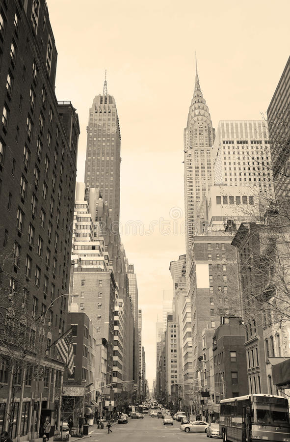New York City Manhattan Schwarzweiss lizenzfreie stockfotografie