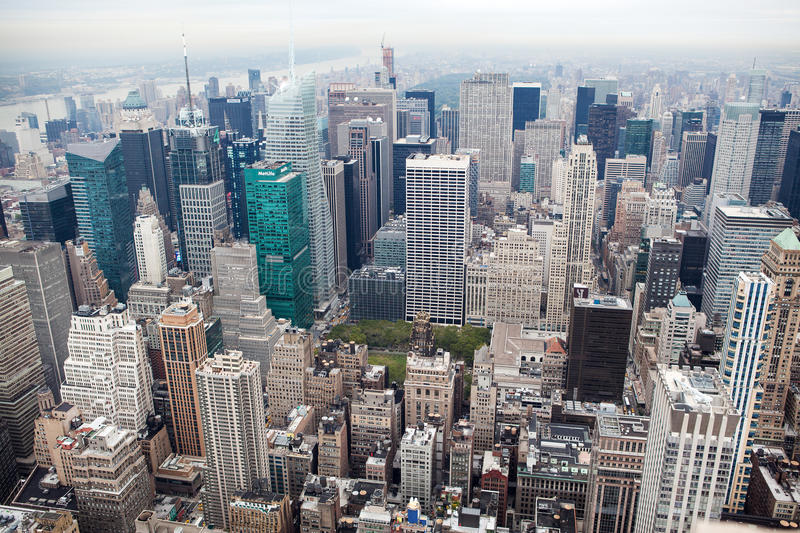 New York City Manhattan skyline view stock photo