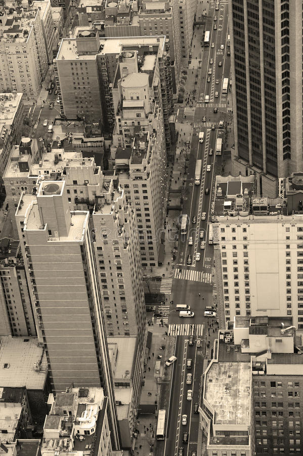 New York City Manhattan streetblack and white royalty free stock photography