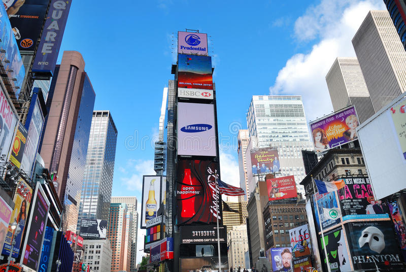 New York City Manhattan Times Square stock image