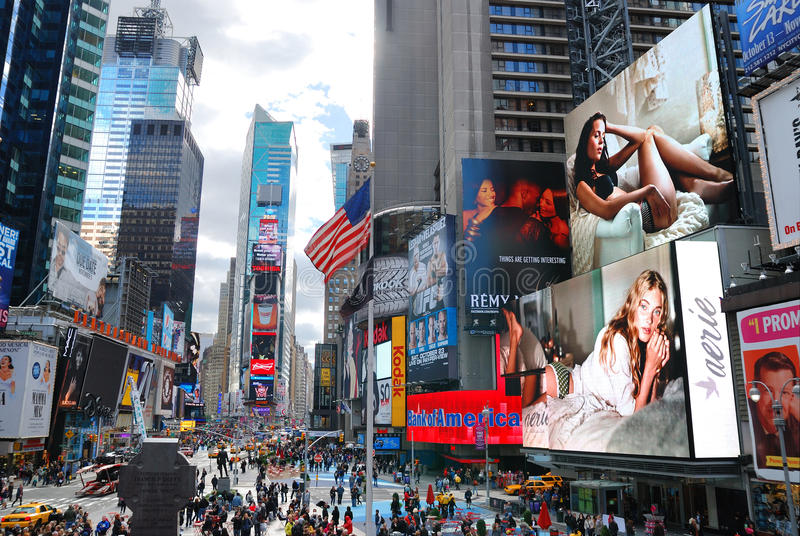 New York City Manhattan Times Square. NEW YORK CITY - SEP 5: Times Square, featured with Broadway Theaters and LED signs, is a symbol of New York City and the royalty free stock images