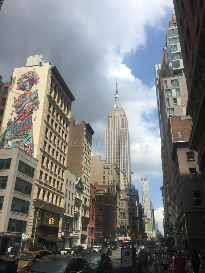 Buildings and street art in the Fifth avenue stock photography