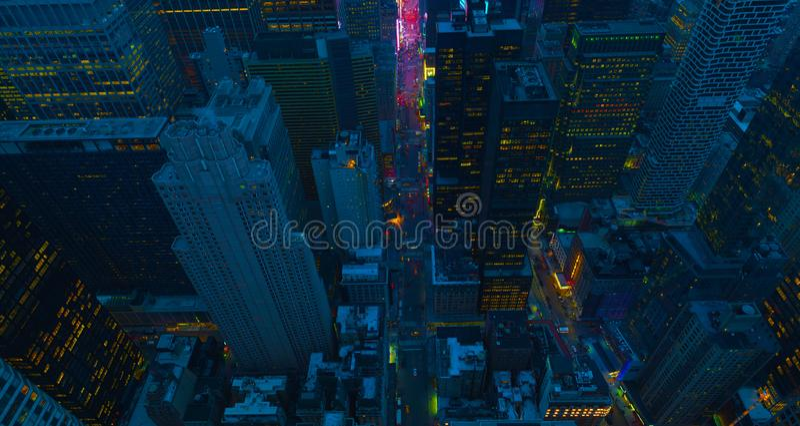 New York City Manhattan usa midtown aerial panorama view with skyscrapers and blue sky.usa stock photos