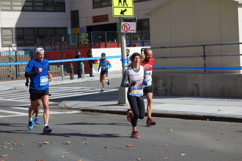The 2014 New York City Marathon 136. This is the great annual event now sponsored by TCS. I took all the pictures in the Bronx leg of the marathon royalty free stock photos