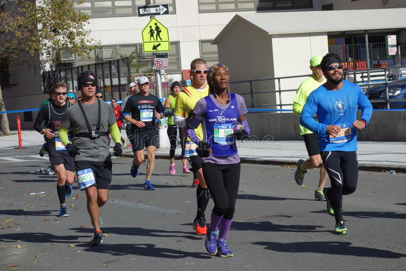 The 2014 New York City Marathon 247. This is the great annual event now sponsored by TCS. I took all the pictures in the Bronx leg of the marathon stock photography
