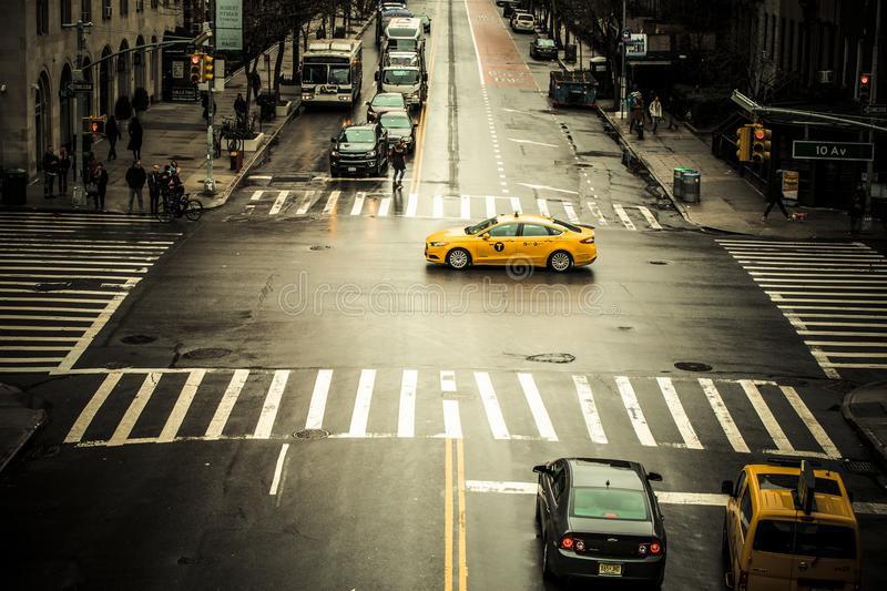 NYC street scene editorial image stock image