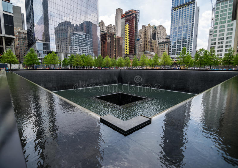 New York City 9/11 Memorial Reflection Pool royalty free stock image