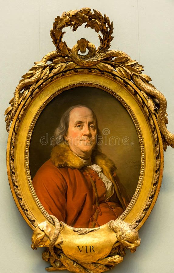 New York City The Met Benjamin Franklin Portrait stock photography