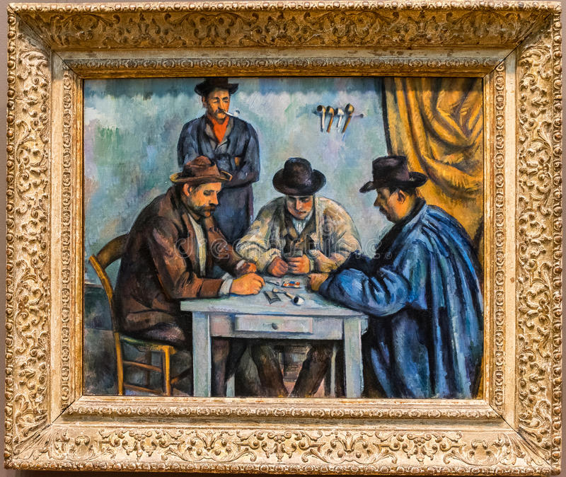 New York City The Met Paul Cezanne, The Card Players stock photo