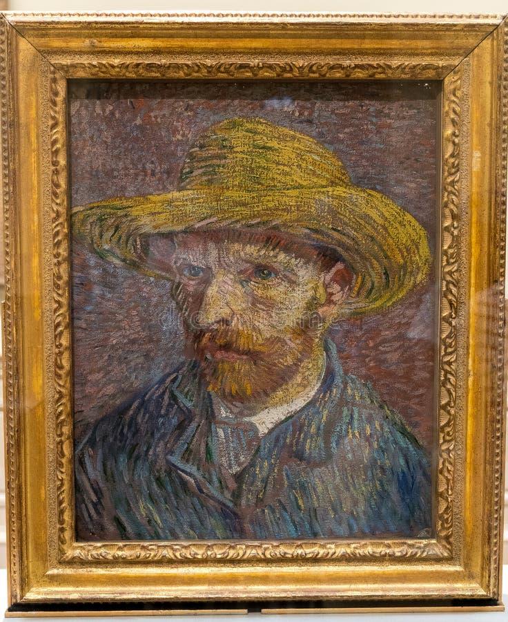 New York City The Met Vincent Van Gogh Self Portrait Painting stock images