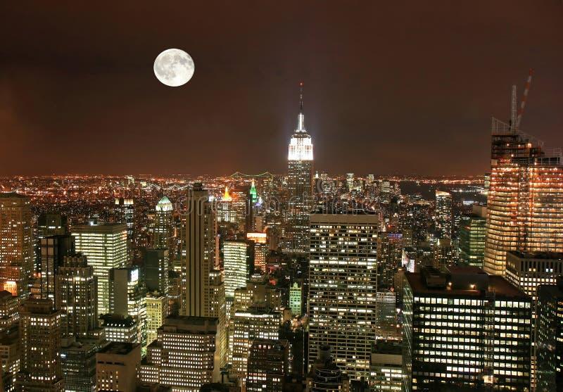 New York City midtownhorisont royaltyfria foton
