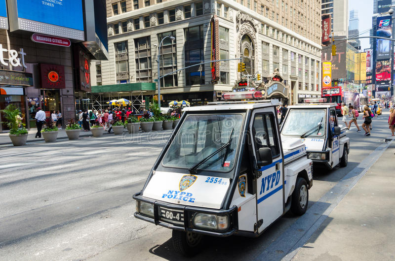 New York city mini police car royalty free stock image