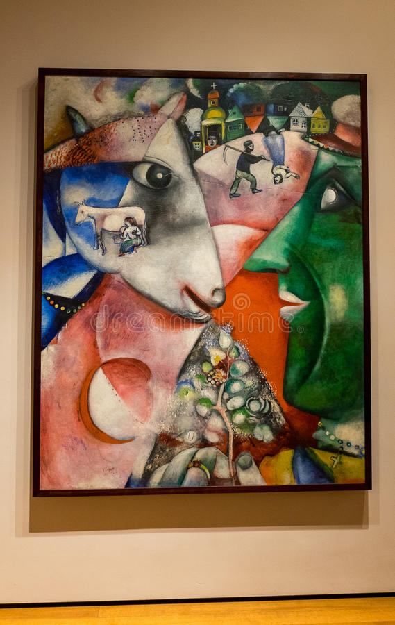 New York City MOMA Marc Chagall stock photography