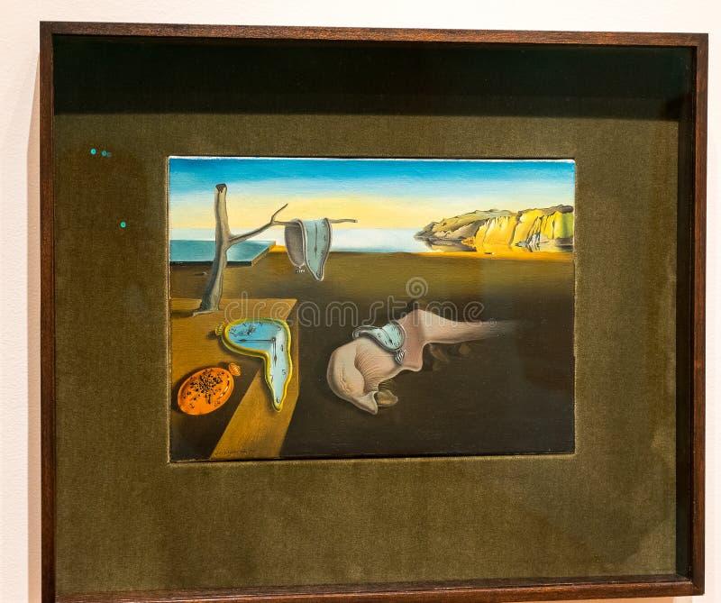 New York City MOMA - Salvador Dali - ståndaktighet av minnet royaltyfri fotografi