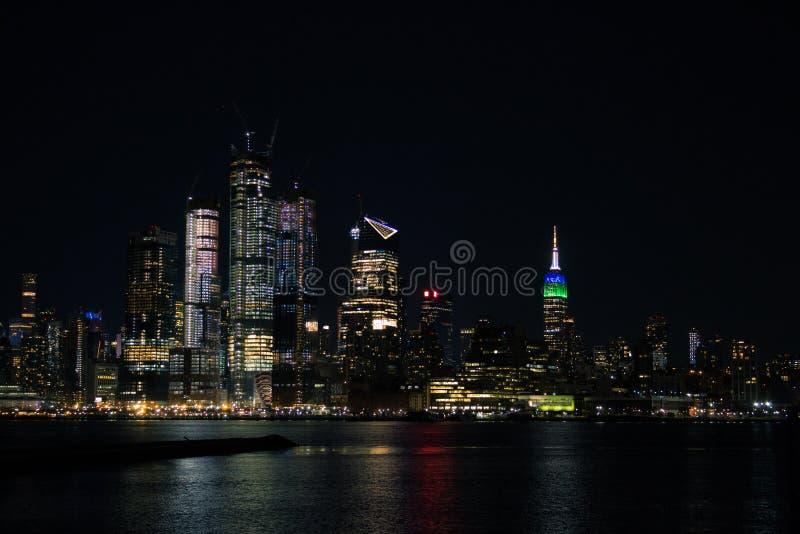 New York City na noite foto de stock