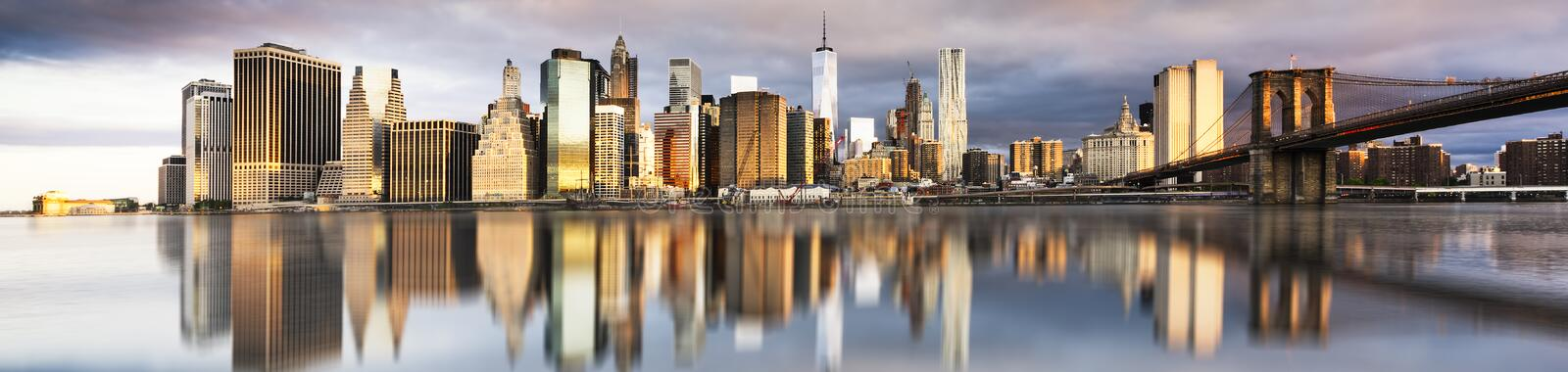 New York City - nascer do sol bonito imagem de stock royalty free