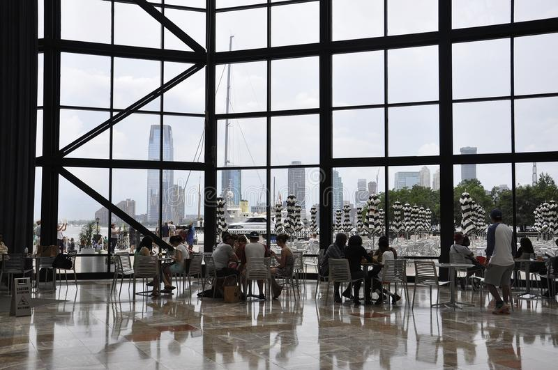 New York City, 2nd July: Brookfield Place interior in Manhattan from New York City in United States. Brookfield Place interior in Manhattan from New York City in royalty free stock image