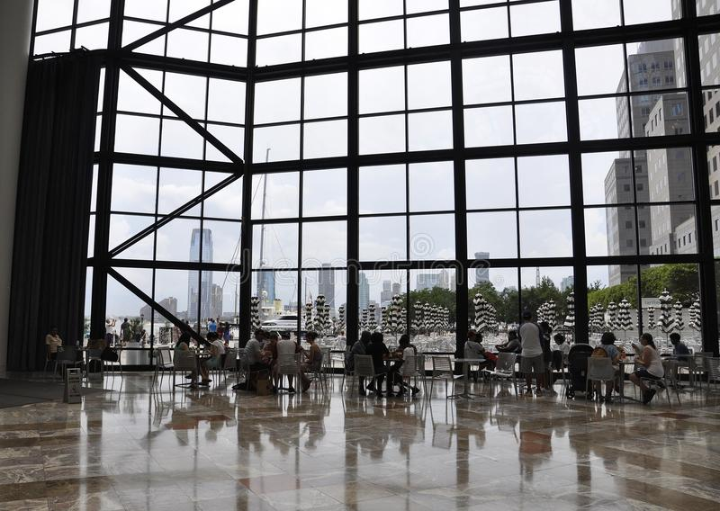 New York City, 2nd July: Brookfield Place interior in Manhattan from New York City in United States. Brookfield Place interior in Manhattan from New York City in royalty free stock photo