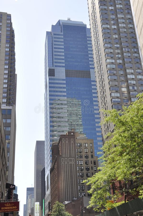 New York City, 2nd July: Skyscrapers of Manhattan from New York City in United States stock photography