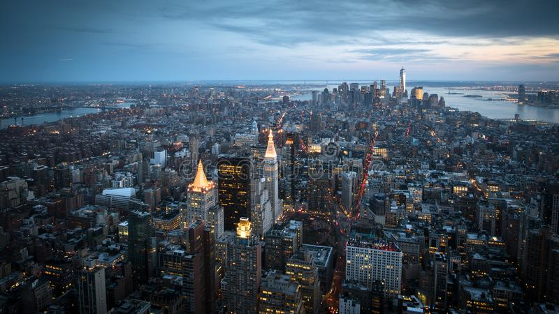 New York From Above royalty free stock photo