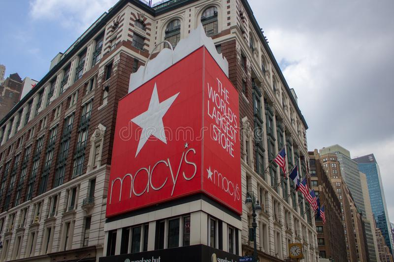 Macy`s at New York City. The world largest Macy`s. stock photography