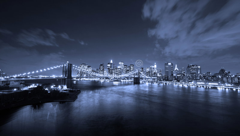 Download New York City at night stock photo. Image of building - 3747114