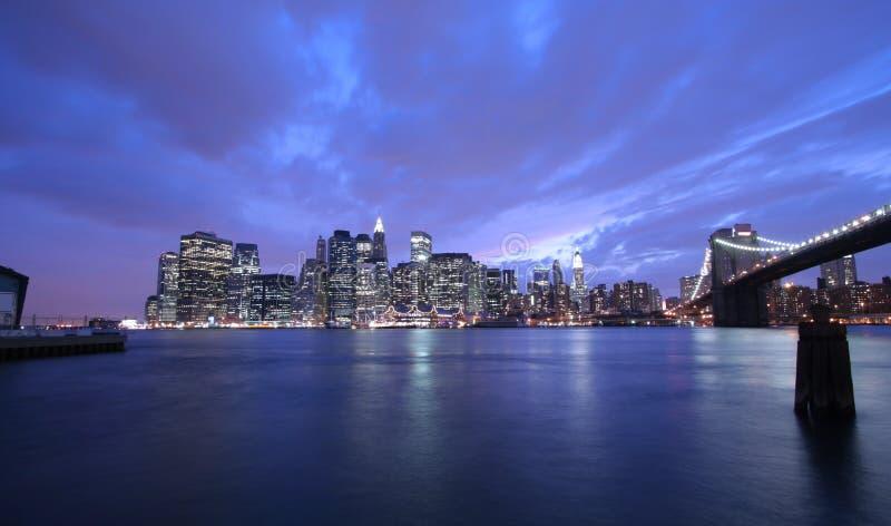 Download New York City at night stock photo. Image of manhattan - 3802170