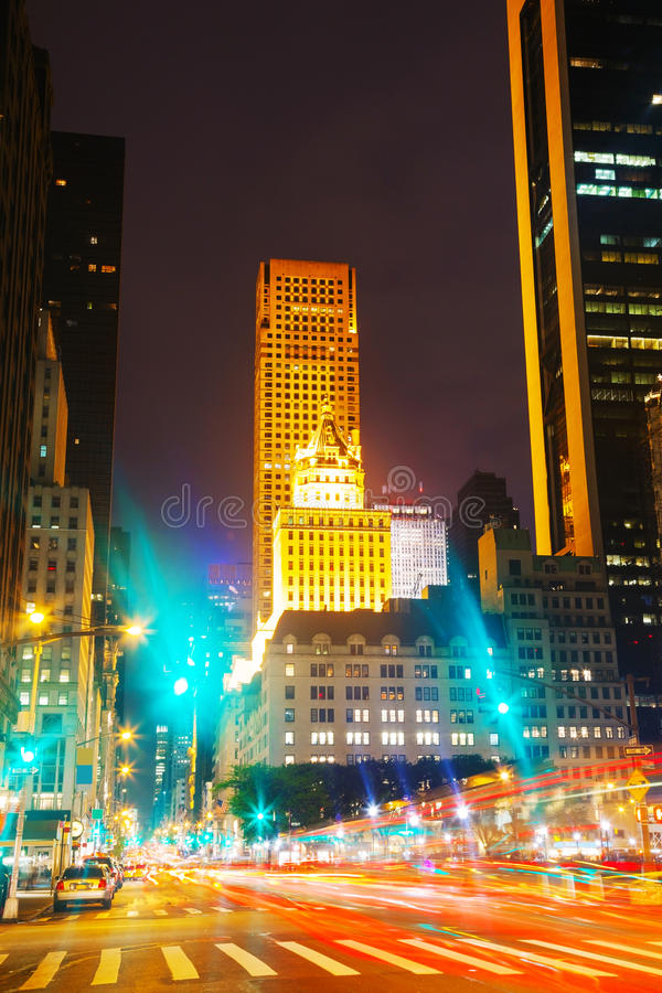 Download New York City in the night stock photo. Image of york - 33013200