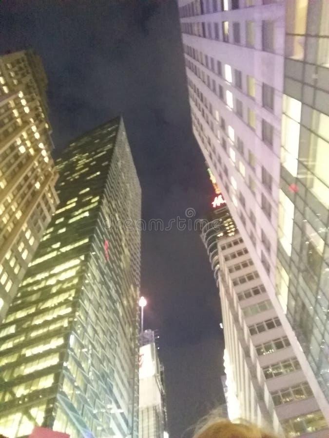 New York city nightlife royalty free stock photography