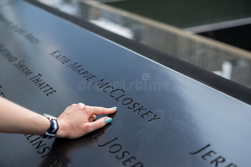 New York City 9/11 nom de mémorial photos libres de droits