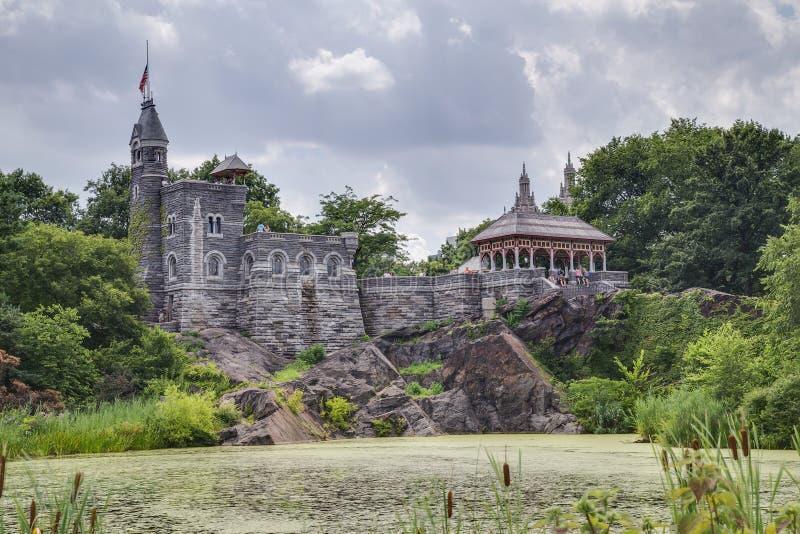 New York City, NY/USA - circa im Juli 2015: Belvedere-Schloss im Central Park, New York City stockfotografie
