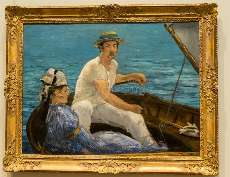 New York City The Met - Edouard Manet - Boating royalty free stock images