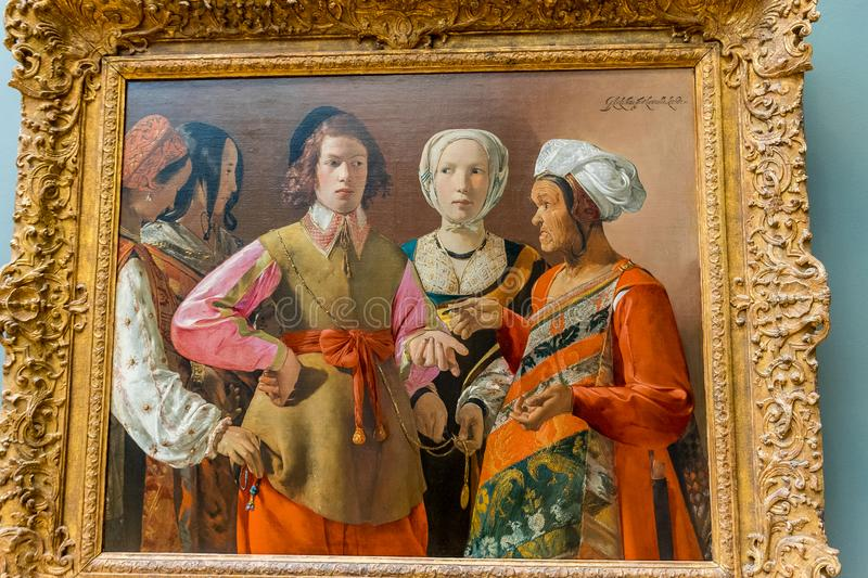 New York City The Met - Georges de La Tour - Fortunate Teller royalty free stock photos