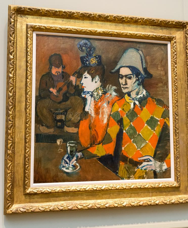 New York City The Met - Pablo Picasso - At the Lapin Agile royalty free stock photography