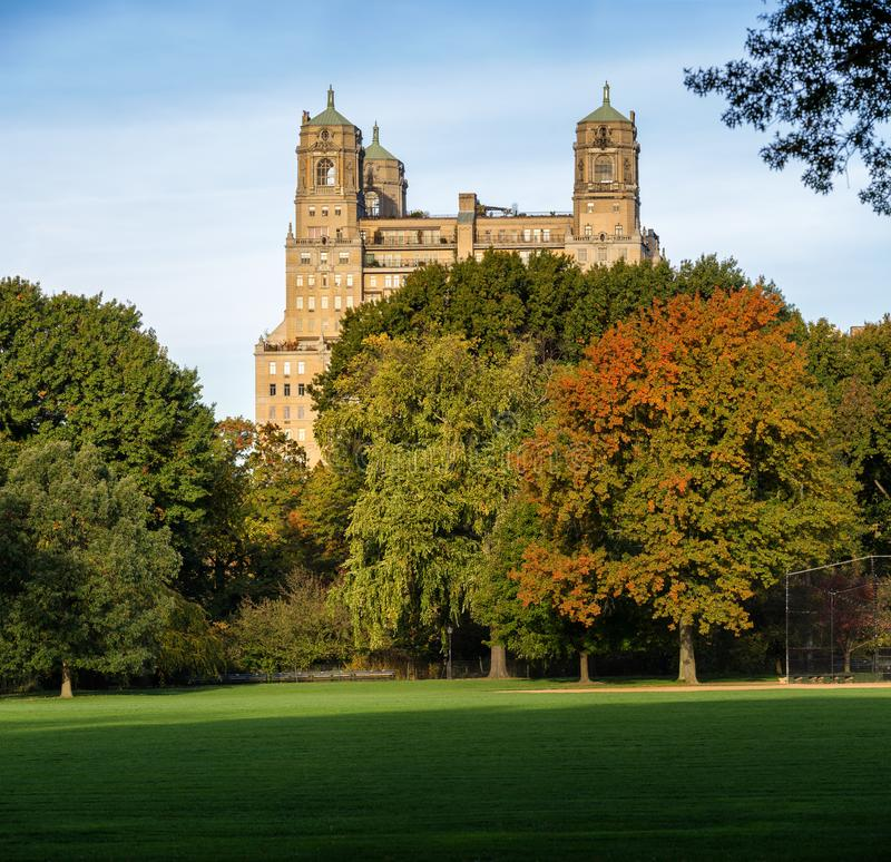 Autumn Lakes Apartments: View On The Beresford Building From Central Park In New