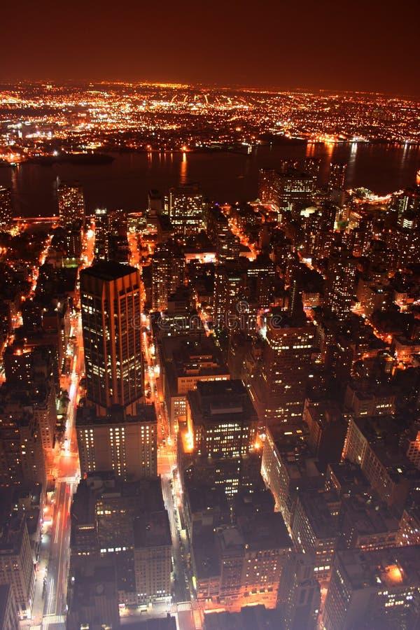 New York City (nyc) At Night Stock Photography