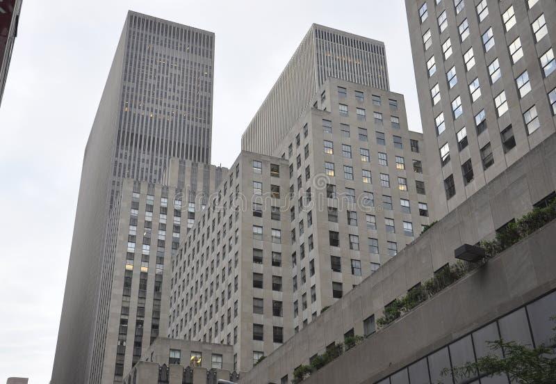 New York City, o 2 de julho: Detalhes dos arranha-céus de Rockefeller em Manhattan de New York City no Estados Unidos fotos de stock royalty free